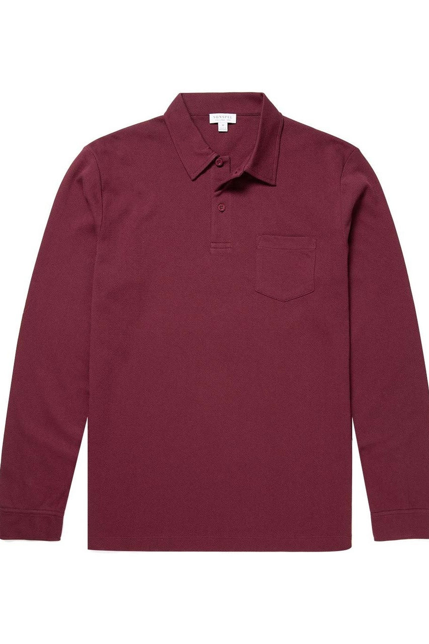 LS Polo Shirt Maroon