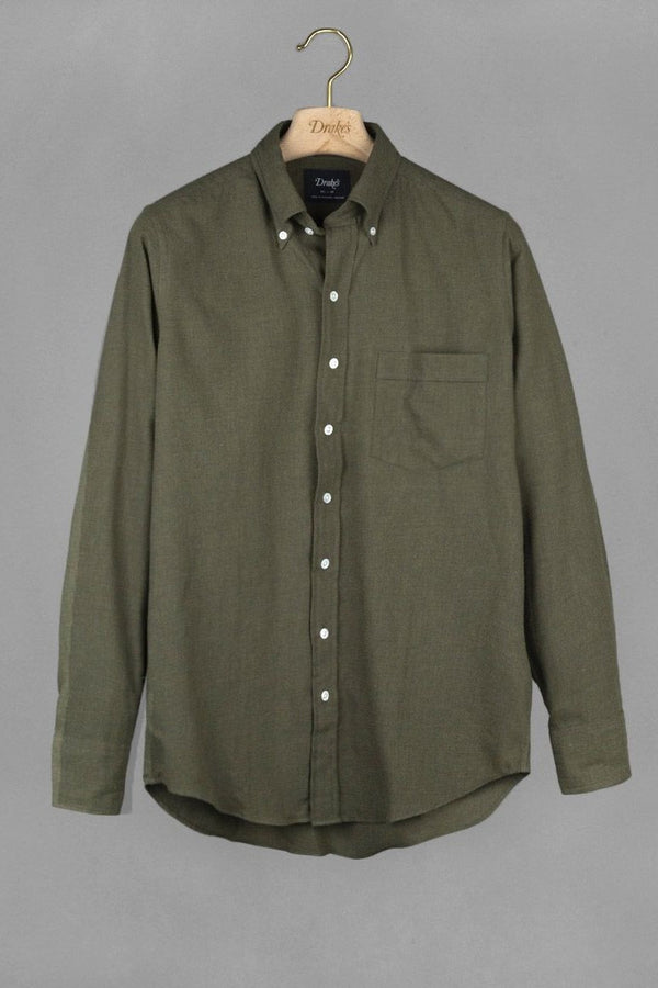 Solid Cotton Flannel Green