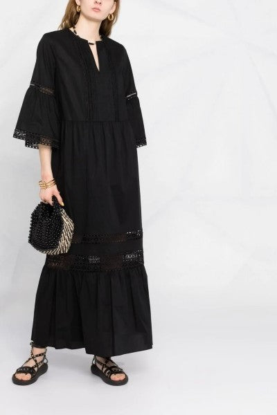 Long Poplin Dress Nero