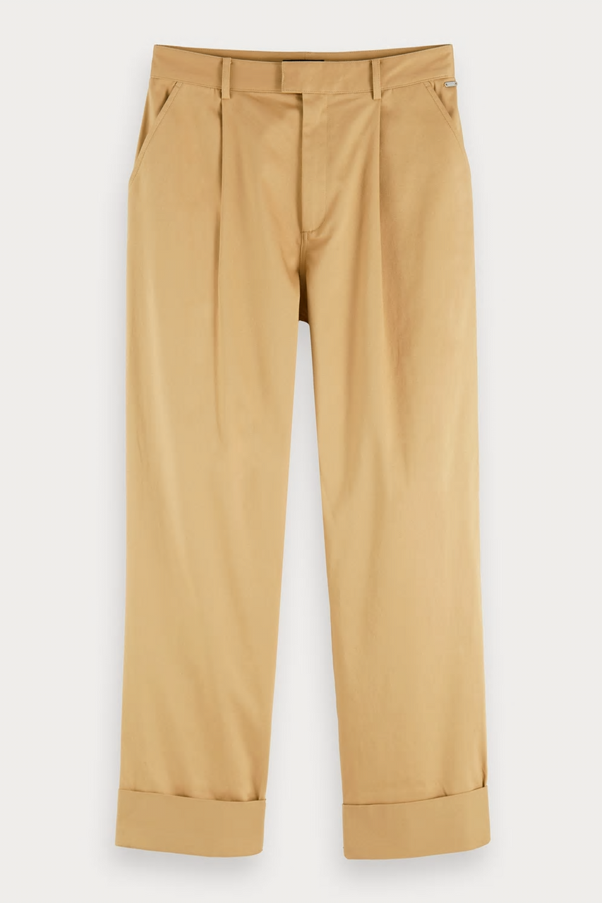 Ams Blauw Pleat Front Chino Sand