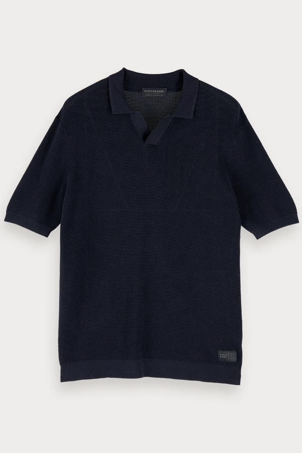 Structured Knitted Polo Night