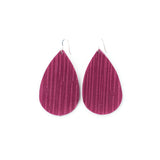 Paradise Pink Leather Earrings