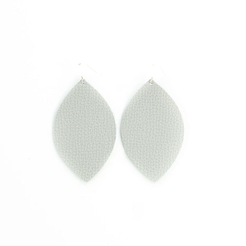 Light Gray Leather Earrings