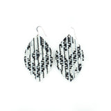 Black and White Illusion Leather Earrings