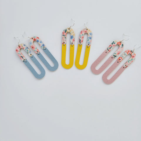 Spring Floral Leather Earrings