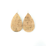 Gold Cork Leather Earrings