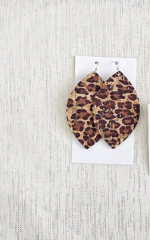 Leopard II Leather Earrings