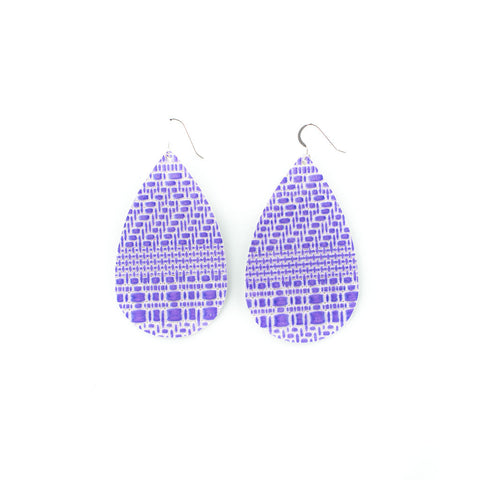 London Lilac Leather Earrings