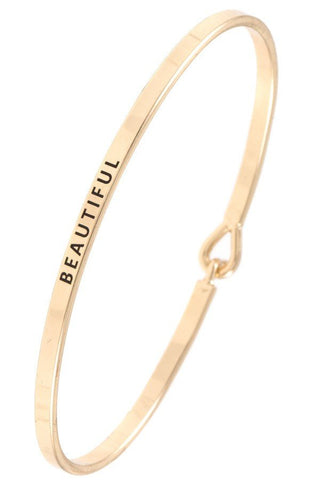"""Beautiful"" Bangle Bracelet"