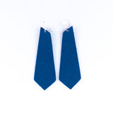 Yale Blue Leather Earrings