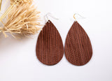 Cinnamon Leather Earrings