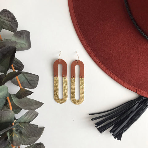 Monroe Leather Earrings
