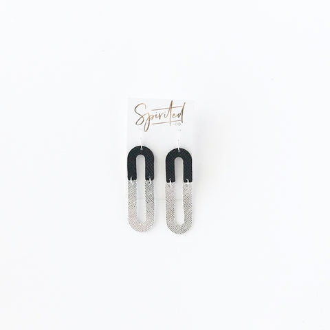 Ace Leather Earrings