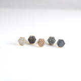 Hexagon Druzy Stud Earrings