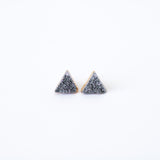Triangle Druzy Stud Earrings