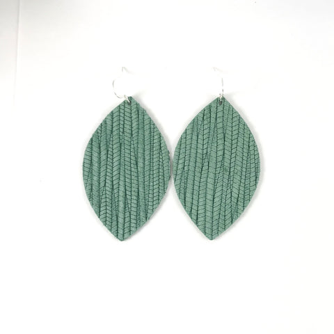 Sage Leather Earrings