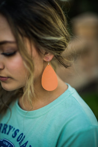 Creamsicle Leather Earrings