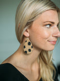 Spotted Leather Earrings
