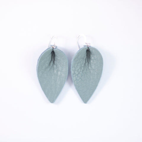 Winter Days Leather Leaf Earrings