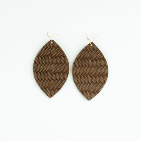 *NEW* Brunette Leather Earrings