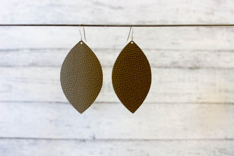 Beaver Leather Earrings