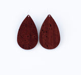 Rust Leather Earrings