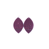 Sparkling Plum Cork Leather Earrings