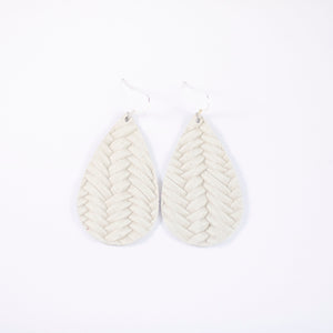 Vanilla Bean Leather Earrings