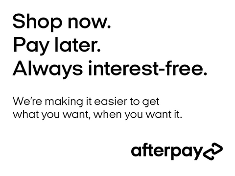 shop now pay later with afterpay. interest free payments