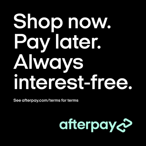 Shop now. pay later. Always interest free. with afterpay
