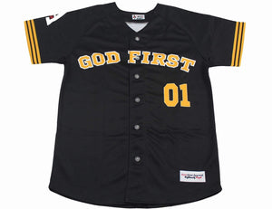 Chosen One Baseball Jersey Unisex Baseball Jerseys God First Apparel (GFA) Medium