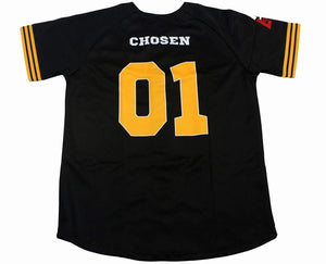 Chosen One Baseball Jersey Unisex Baseball Jerseys God First Apparel (GFA) Small