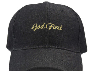 God First Unisex Dad Hats dad hats God First Apparel (GFA) Black Denim