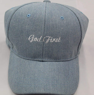 God First Unisex Dad Hats dad hats God First Apparel (GFA) Light Blue Denim