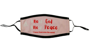 Know God Know Peace masks Masks God First Apparel (GFA)