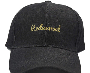 """Redeemed"" Unisex Dad Hats dad hats God First Apparel (GFA) Black"