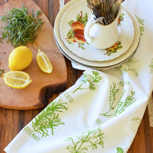 Oh, Little Rabbit – Garden Herbs Tea Towel