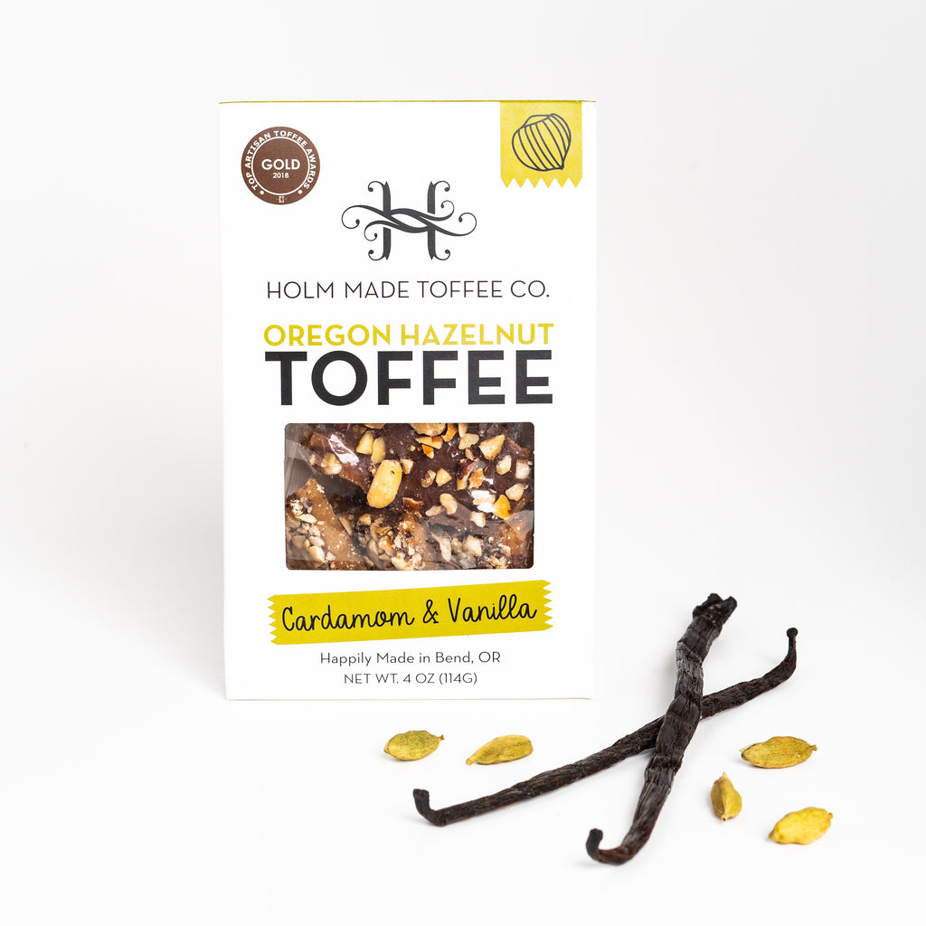 Holm Made Toffee Co. - Cardamom And Vanilla - Oregon Hazelnut Toffee