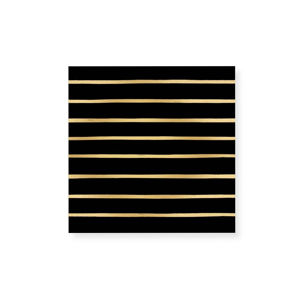 Frankie & Claude – Small Match Box: Striped Gold Foil