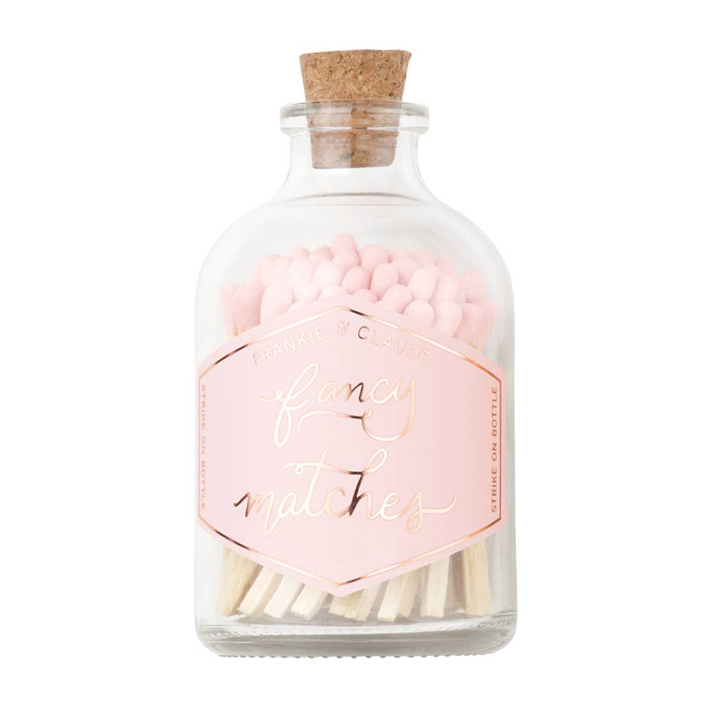 Frankie & Claude – Pale Blush Pink Small Match Jar