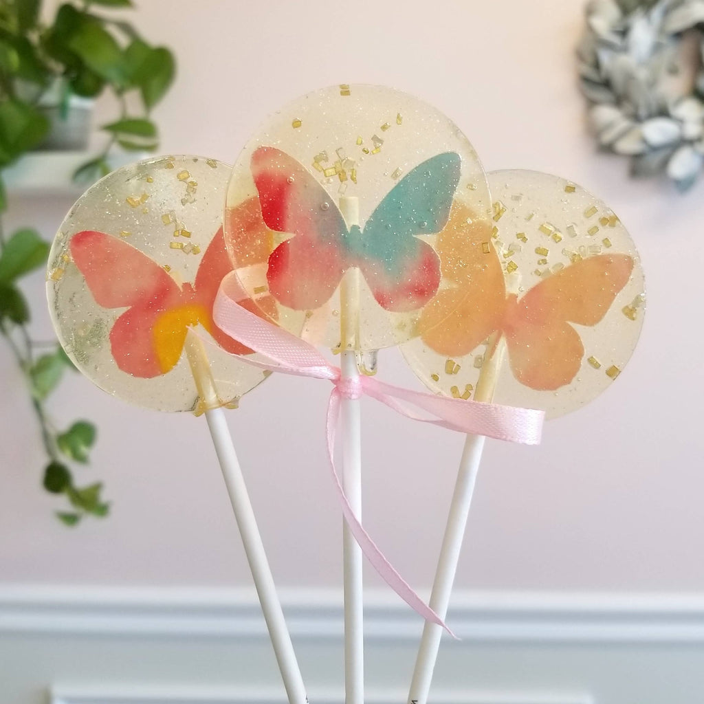 Sweet Caroline Confections - Butterfly Spring Lollipops, Guava
