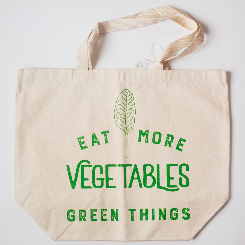 Oh, Little Rabbit – Eat More Green Things Tote Bag