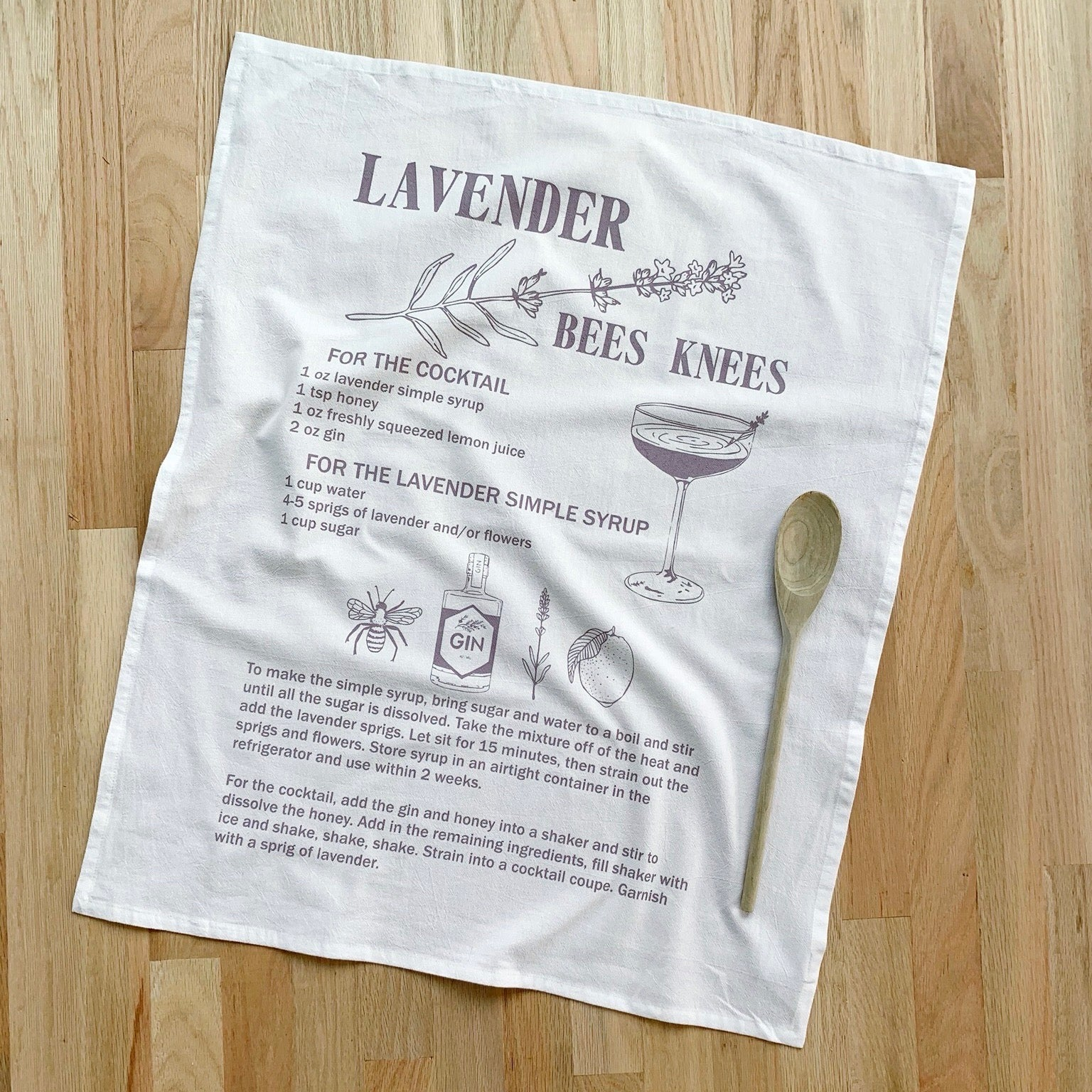 Oh, Little Rabbit – Lavender Bees Knees Flour Sack Towel