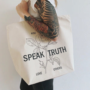 Oh, Little Rabbit – Speak Truth Tote Bag