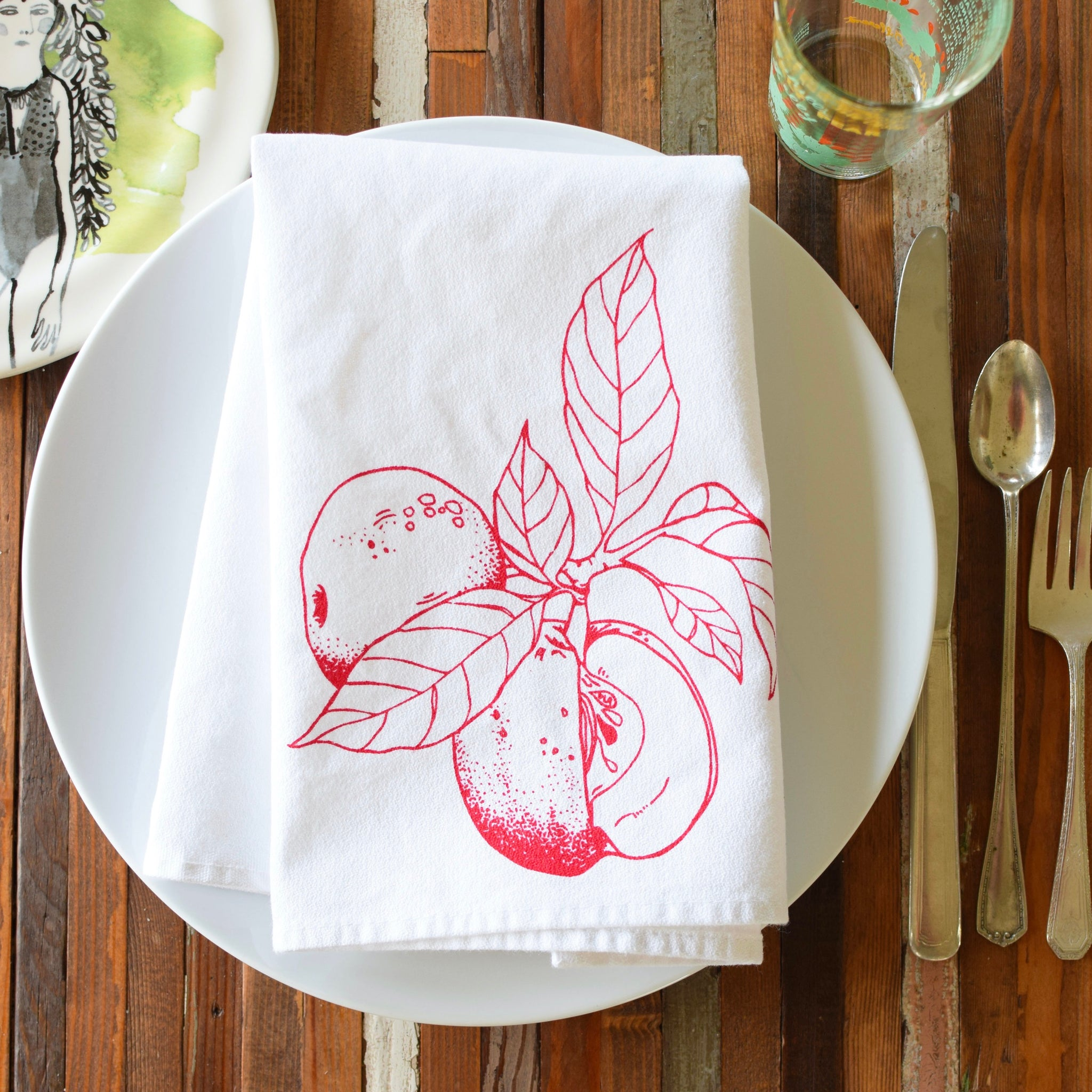 Oh, Little Rabbit – Apple Cloth Napkins (Set of 4)
