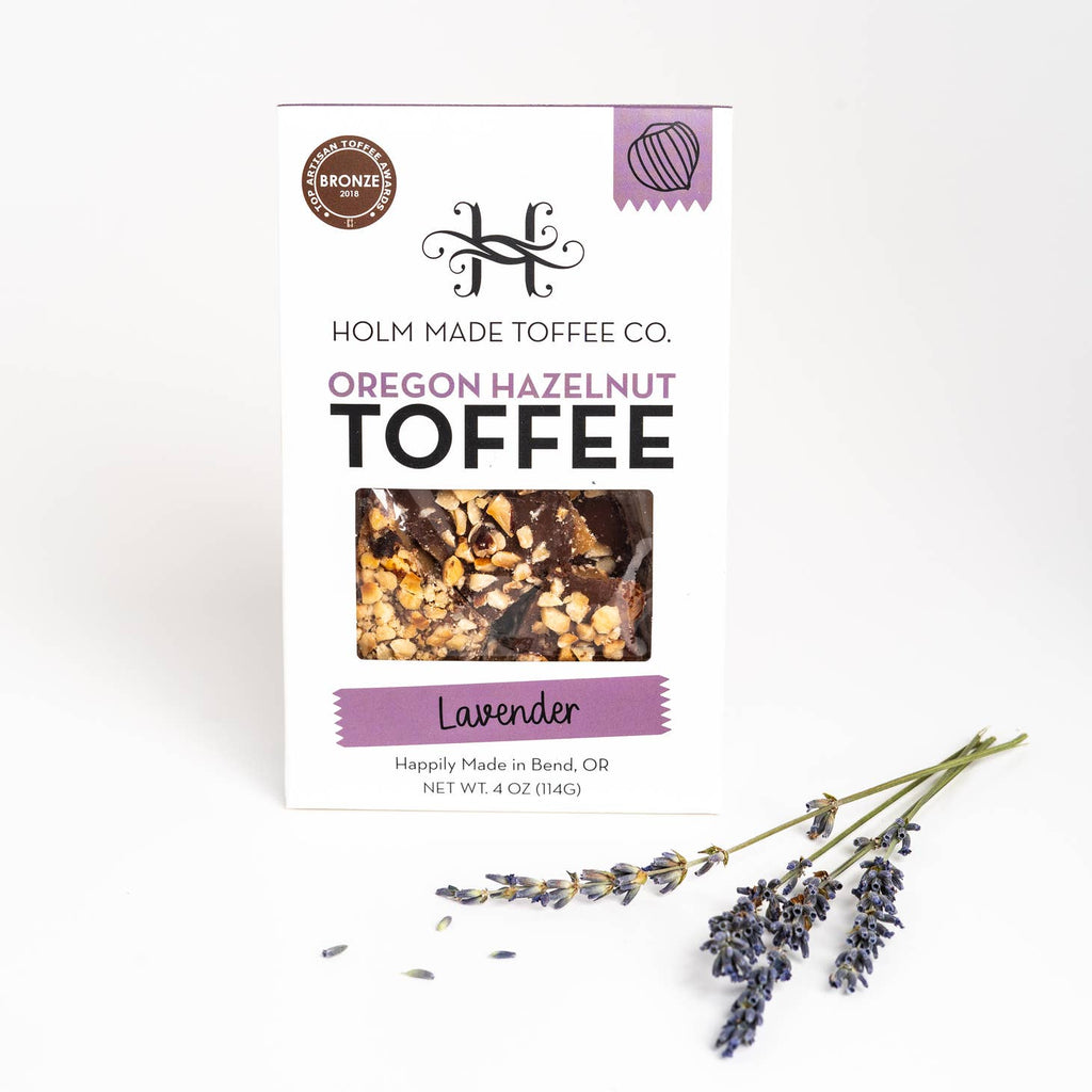 Holm Made Toffee Co. - Lavender - Oregon Hazelnut Toffee