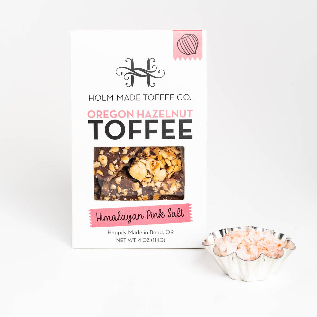 Holm Made Toffee Co. - Himalayan Pink Salt - Oregon Hazelnut Toffee