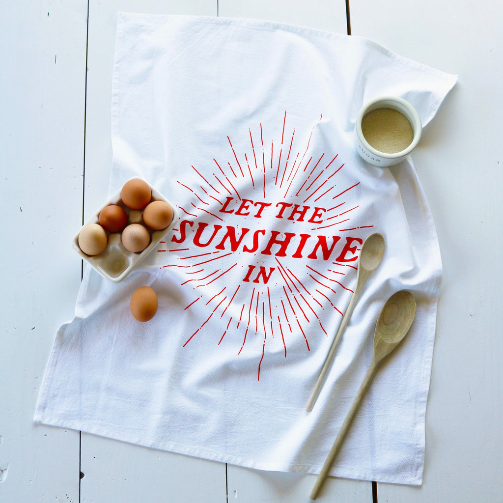 Oh, Little Rabbit – LET THE SUNSHINE IN Flour Sack Towel