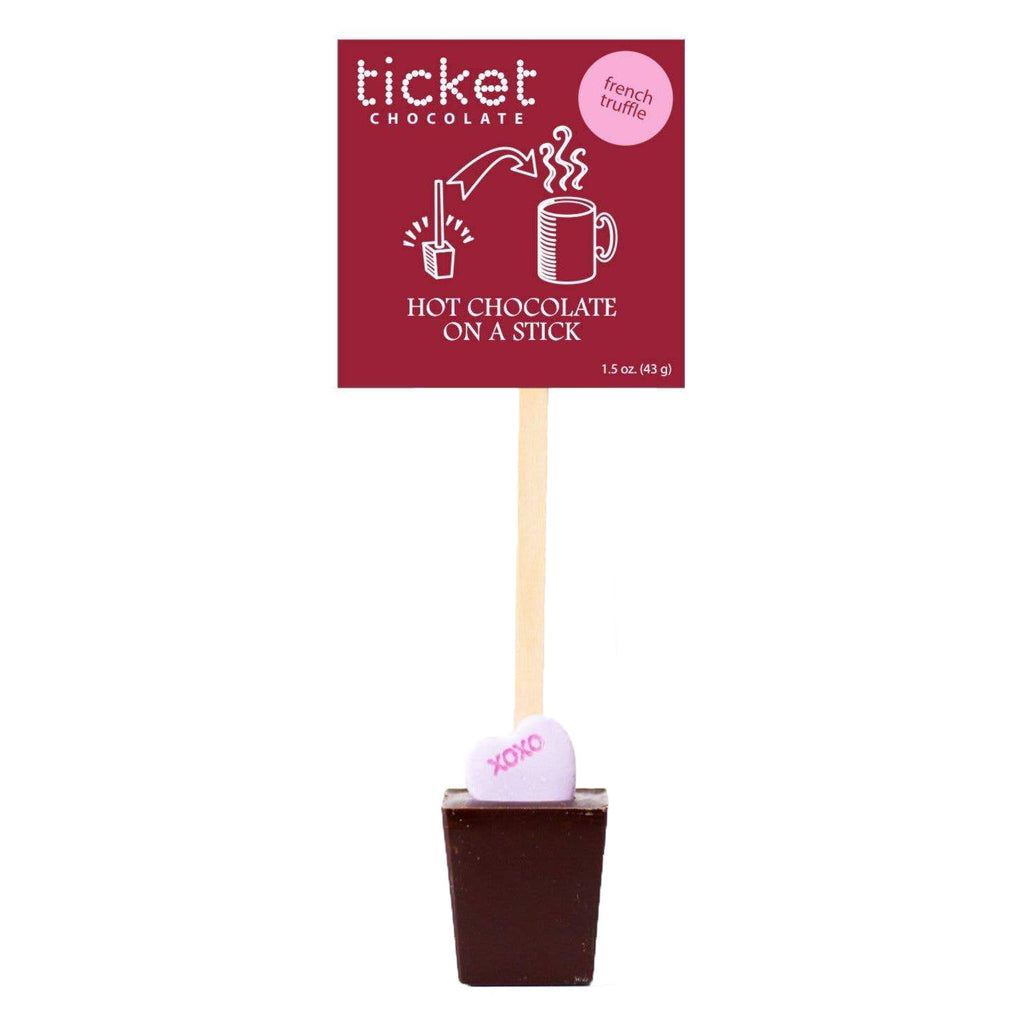 Ticket Chocolate - Hot Chocolate on a Stick (French Truffle) - Valentine Singles