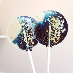 Sweet Caroline Confections - Navy Star Galaxy Lollipops, Blueberry